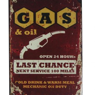 Gas oil mechanic on duty garage tin metal sign 0411a Gas Oil Automotive cheap pub studio plaques