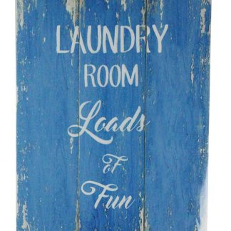 Laundry room loads of fun tin metal sign 0419a Metal Sign etched plaque