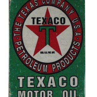 Texaco motor oil tin metal sign 0423a Gas Oil Automotive bedroom decor accessories