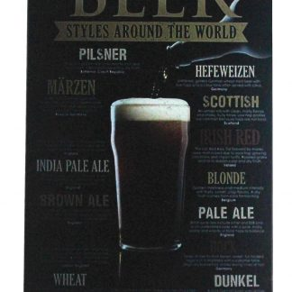 Beer styles world bar pub alcohol tin metal sign 0460a Beer Wine Liquor Alcohol