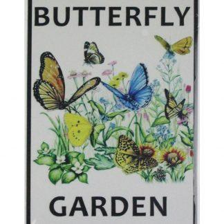 Butterfly Garden tin metal sign 0603a Metal Sign Butterfly
