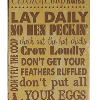 Chicken Coop Rules tin metal sign 0634a Metal Sign at home decor