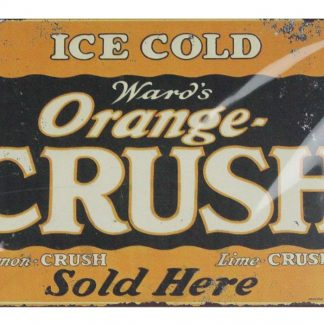 ward's orange-crush soda pop bar kitchen tin metal sign 0662a Gas Oil Automotive bar