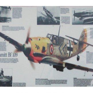 Messerschmitt BF 109 German fighter plane metal sign 0670a Metal Sign 109