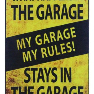 My Garage My Rules tin metal sign 0679a Metal Sign artwall