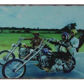 biker motorcycle tin metal sign 0683a Gas Oil Automotive biker