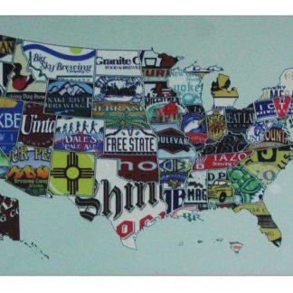 American map tin metal sign 0686a Metal Sign American