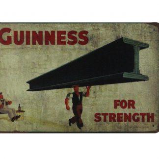 Guinness for strength beer bar pub metal sign 0704a Beer Wine Liquor bar
