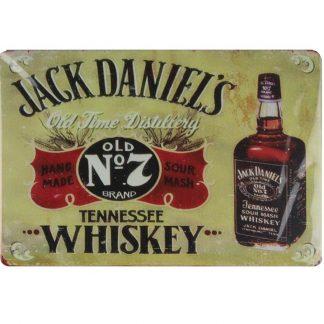 Jack Daniels Tennessee Whiskey club bar pub tin metal sign 0723a Beer Wine Liquor advertising wall art