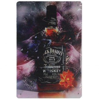 Jack Daniels Tennessee Whiskey bar pub tin metal sign 0724a Beer Wine Liquor bar