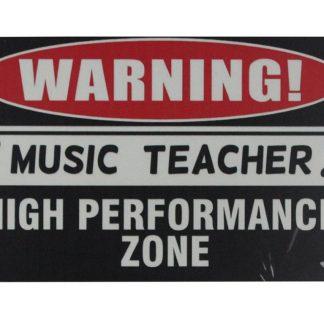 Warning! music teacher high performance zone tin sign 0730a Metal Sign best wall decor ideas