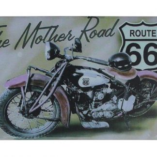 The Mother Road route 66 tin metal sign 0731a Gas Oil Automotive garage design ideas