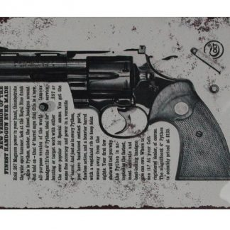 1960 Colt Python .357 Magnums firearm handgun metal sign 0742a Metal Sign .357