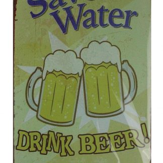 Save water drink beer pub bar tin metal sign 0747a Beer Wine Liquor arched metal wall art