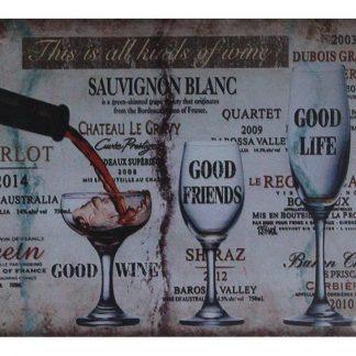 wine Sauvignon Blanc bar pub tin metal sign 0748a Beer Wine Liquor bar