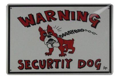 warning security dog tin metal sign 0751a Metal Sign auto shop metal signs