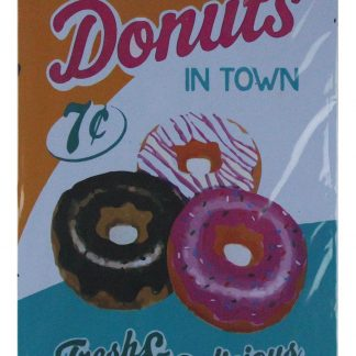 Best donuts in town fresh delicious tin sign 0752a Metal Sign all home decor