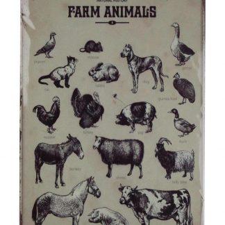 Farm animals tin metal sign 0789a Metal Sign animals