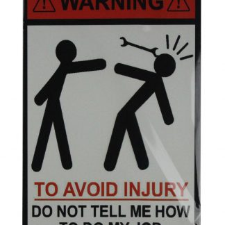 Warning to avoid injury tin metal sign 0792a Metal Sign avoid