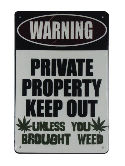 Warning private property keep out tin metal sign 0793a Metal Sign cafe pub metal artwork