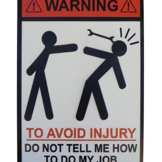 Warning to avoid injury tin metal sign 0794a Metal Sign avoid