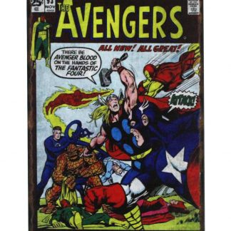 Avengers Marvel comics beach head earth tin metal sign 0802a Comics Avengers