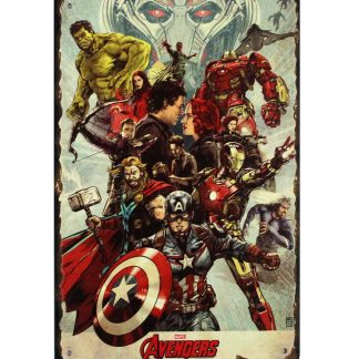 Avengers Ensemble Marvel comics tin metal sign 0803a Comics Avengers