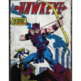 Marvel comics Hawkeye tin metal sign 0804a Comics bar club vintage tin signs