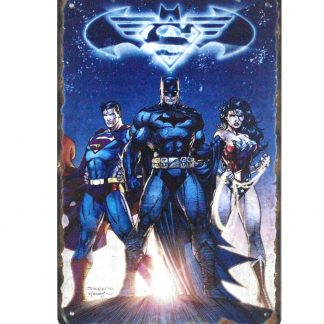 Marvel comics superman batman wonder woman tin metal sign 0805a Comics Batman