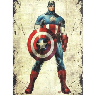 Captain America Marvel vintage tin metal sign 0814a Comics America