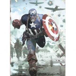 Captain America Marvel tin metal sign 0819a Comics America
