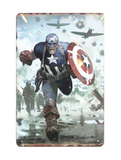 Captain America Marvel tin metal sign 0819a Comics America