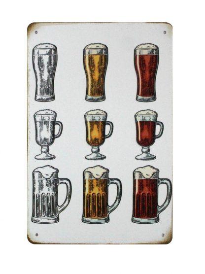 beer drink alcohol bar pub tin metal sign 0825a Beer Wine Liquor Alcohol