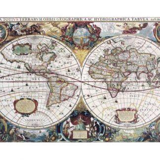 1630 vintage world map tin metal sign 0828a Metal Sign 1630