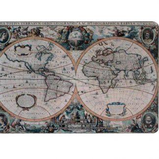 1630 vintage world map tin metal sign 0830a Metal Sign 1630