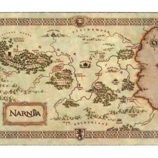 legend NARNIA treasure map tin metal sign 0831a Metal Sign Legend
