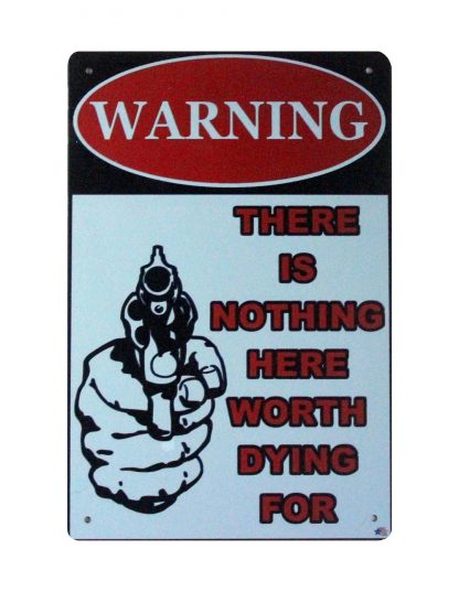 Pro Gun 2nd Amendment Warning tin metal sign 0850a Metal Sign 2nd Amendment