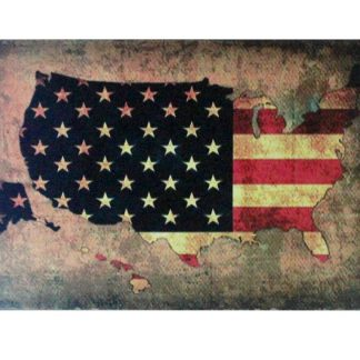 American map U.S. flag patriotic tin metal sign 0859a Metal Sign American