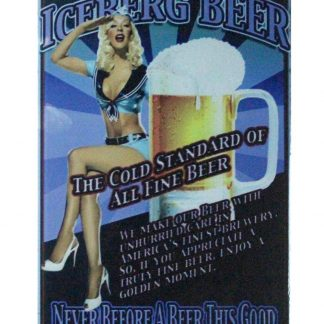 Icererg beer pin-up sexy girl tin metal sign 0862a Beer Wine Liquor beer