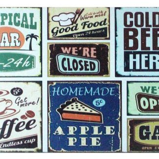 bar beer coffee pub tin metal sign 0869a Beer Wine Liquor bar