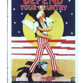 Defend your country tin metal sign 0872a Metal Sign country