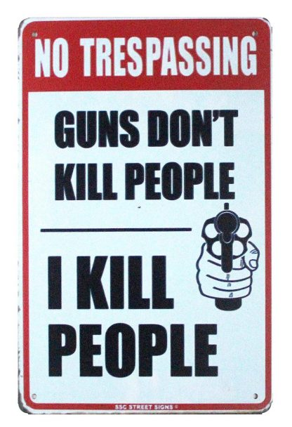No Trespassing Pro Gun 2nd Amendment tin metal sign 0873a Metal Sign 2nd Amendment