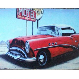 Motel old car travel tin metal sign 0883a Gas Oil Automotive bedroom theme ideas