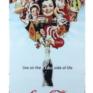 live on Coke side of life Coca-Cola metal sign 0886a Food Beverage Cola Coffee Tea bathroom art prints