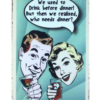 We used to drink before dinner beer wine bar tin metal sign 0890a Beer Wine Liquor advertising wall art