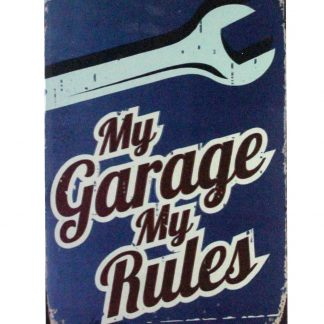 My garage my rules tin metal sign 0903a Metal Sign garage
