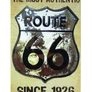 The Most Authentic Route 66 Since 1926 tin sign 0918a Gas Oil Automotive 1926