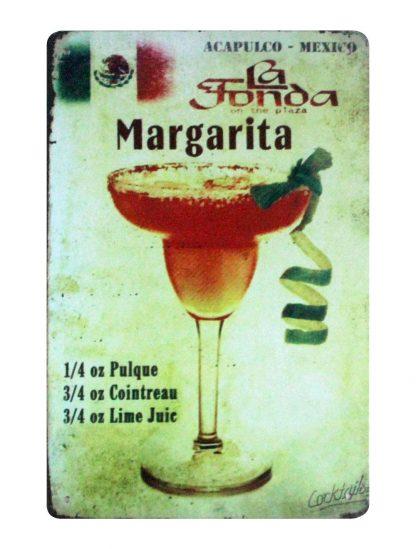Acapulco-Mexico La Fonda Margarita bar metal sign 0920a Metal Sign Acapulco-Mexico