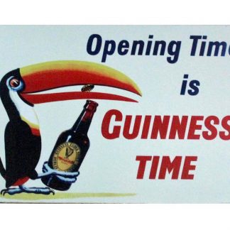 Opening Time is Guinness Time Toucan beer metal sign 0921a Beer Wine Liquor bathroom wall art home kitchen