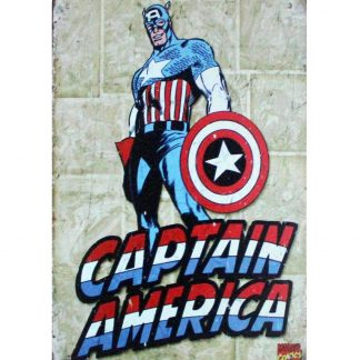 Captain America Avenger Marvel comic metal sign 0928a Comics America